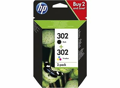 Genuine HP 302 Black & Colour Ink Cartridge Combo Pack X4D37AE For Envy 4520