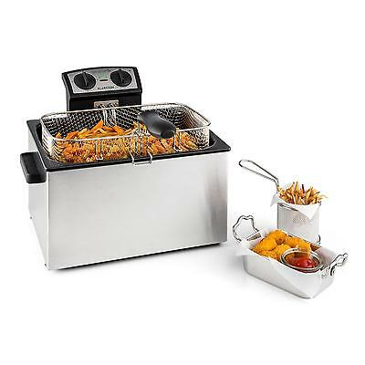 Fritteuse Friteuse Fritöse Semiprofessionell Edelstahl Kaltzone Gastronomie 5L