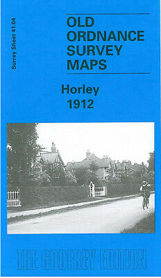 Old Ordnance Survey Map Horley 1912 Balcombe Road Horley Street Gatwick