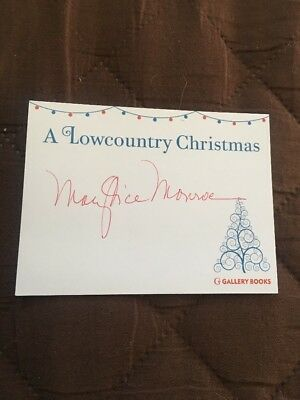 Signed Autographed Bookplate Mary Alice Monroe A Lowcountry Christmas