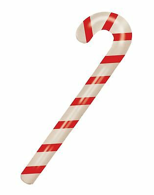 90cm Inflatable Candy Stick Blow Up Christmas Xmas Cane Party Prop Stocking Gift