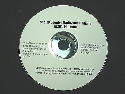 CD ~ 1930's Shelby County Indiana Plat Map Book