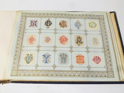 FULL Victorian Edwardian Embossed Crests Monograms Coats of Arms 24 Pages#9