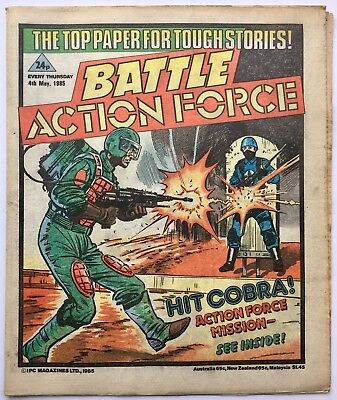 BATTLE ACTION FORCE / 4th MAY 1985 / IPC MAGAZINES / UK COMIC STRIPS / V/G