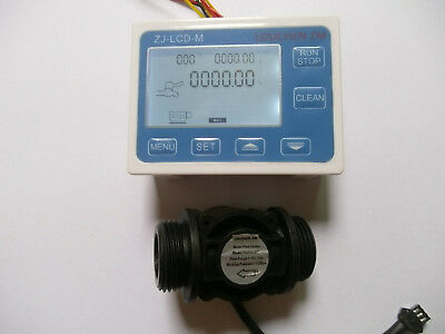 "NEW G1"" Flow Water Sensor Meter+Digital LCD Display control"
