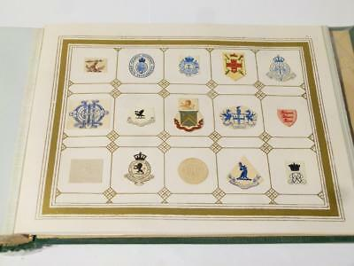 Antique Victorian Edwardian 360 Embossed Crests ARMS Album FULL Exceptional  #11