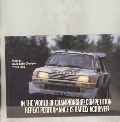 1985 1986 1987 Peugeot Rally Car & 505 Turbo Brochure wy8009