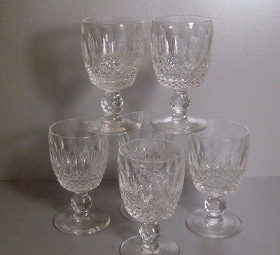 WATERFORD Crystal COLLEEN SIX (6) PORT WINE Glasses / Goblets