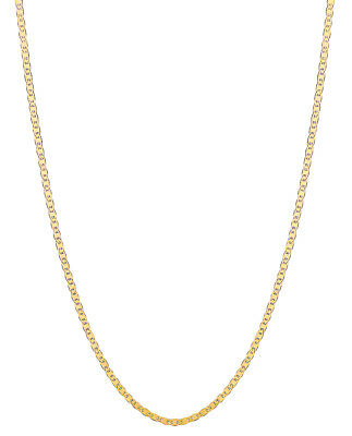 "14k Solid Yellow Gold Mariner Link Chain 18"" 1.7mm"