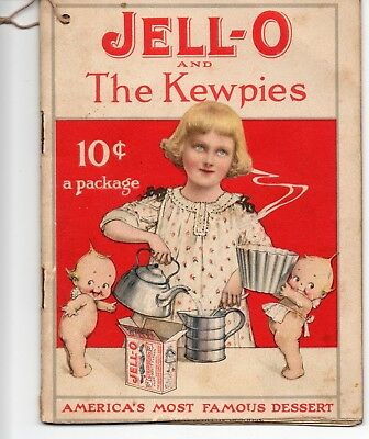 Vintage Recipe Booklet Jell-O & The Kewpies Rose O'Neill Illustrations