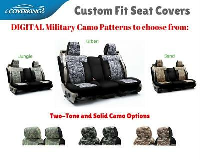 DIGITAL MILITARY CAMO CUSTOM FIT SEAT COVERS for NISSAN LEAF