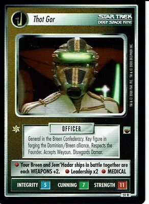 Star Trek Ccg Trouble With Tribbles Rare Card Thot Gor