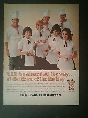 1967 Elias Brothers Big Boy Hamburgers Fast Food Restaurant Promo AD