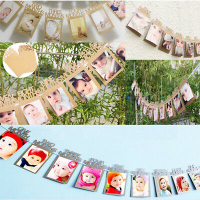 1st Baby Growth 1 12 Months Photo Prop Banner Garland Birthday Party