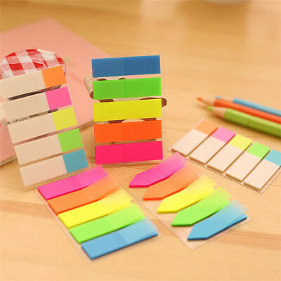 Fluorescen Sticker Bookmark Marker Memo Flags Index Pad Tab Sticky Notes