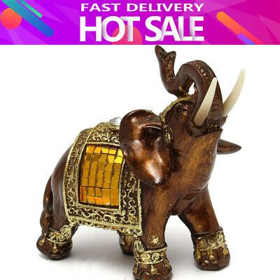 Feng Shui 4.7'' Resin Elephant Figurine Wealth Lucky Figurine Gift & Home Decor