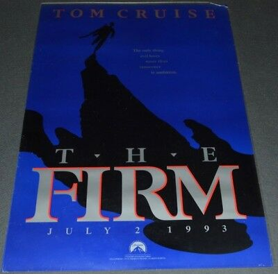 THE FIRM 1995 ORIGINAL ADVANCE ROLLED 27x40 MOVIE POSTER! TOM CRUISE THRILLER!