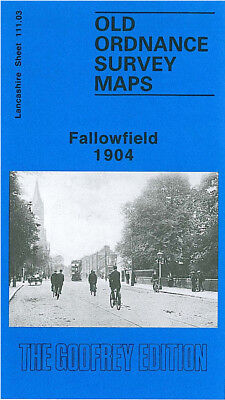 Old Ordnance Survey Map Fallowfield 1904 Manchester Rusholme Brook Road