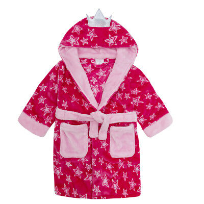 Girls Fairy Princess Soft Fleece Hooded Dressing Gown with Wings ~ 2-6 Years