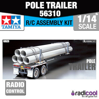 56310 Tamiya Pole Trailer for T Truck 1/14th R/C Radio Control Assembly Kit