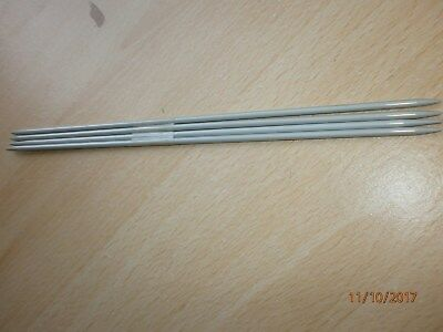knitting needles 4 double pointed sock needles (length 17cm approx )imperial