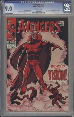 AVENGERS 57 - CGC 9.0 - First Vision Appearance - Marvel Comics