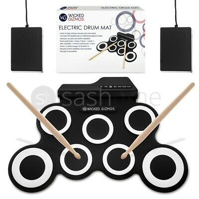 7 Pads Electronic Digital Drum USB Pads Roll up Drum Set Silicone Electric Drum