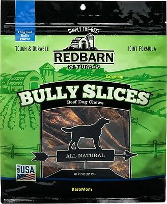 3 Bags RedBarn BULLY SLICES 9oz Pet Dog Chews Treats Natural FRESH Sealed USA