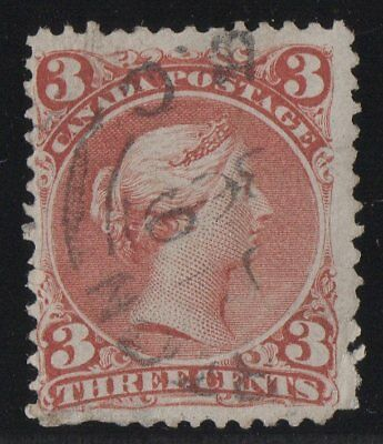 MOTON114    #25b Large Queen 3c Canada used well centered