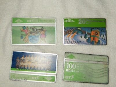 BT Phonecards Job Lot of 10 Mixed Cards, Fair/Good Condition.