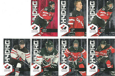 7 lot 15-16 UD Team Canada Juniors Hydro Inserts Crouse Rattray