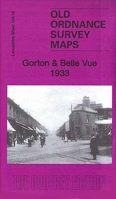 Old Ordnance Survey Map Manchester Gorton Belle Vue Slade Lane 1933