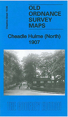 Old Ordnance Survey Map Cheadle Hulme North 1907 Moseley Hall Mayfield Grove