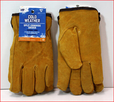 LOT 2 West Chester Cold Weather LEATHER Driver GLOVES Thermal Lined Sharpe LARGE