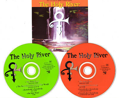 Prince/ Love Symbol - The Holy River. Cd Single 1 & 2 Set + Postcards/prints Npg