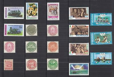 y3043 South America - Nicaragua /  A small collection Early & Modern Lhm & Used
