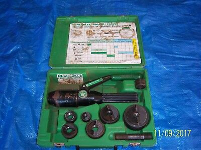 Greenlee Quick Draw Hydraulic Knockout Punch Set 7806Sb ( Used )