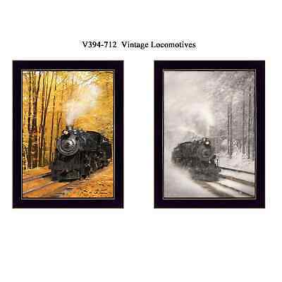 """Vintage Locomotives"" Collection By Lori Deiter, Printed Wall Art, Ready To Hang"