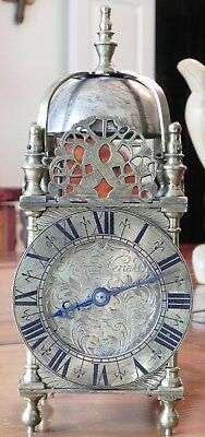 Miniature Engraved 8-Day Melodiously Striking Lantern Clock-A Very Special Clock