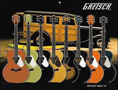 The Gretsch Rancher Sweet 16 Series Acoustic Guitars 8 x 11 pin-up photo