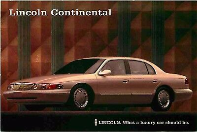 Advertising Postcard 1996 Lincoln Continental