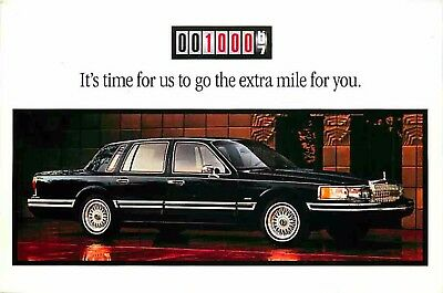 Advertising Postcard 1994 Lincoln Town Car