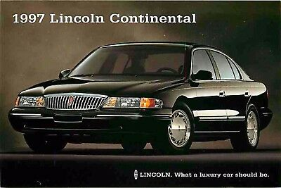 Advertising Postcard 1997 Lincoln Continental