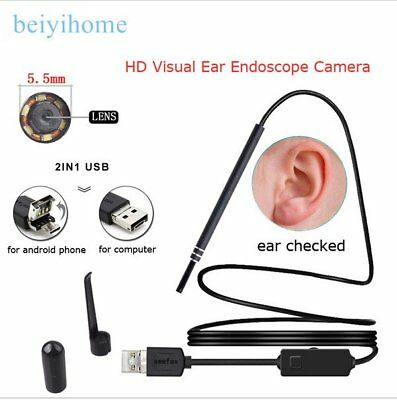 USB Ear Cleaning Endoscope Visual Earpick With Mini Camera Ear Cleaning Tool HM