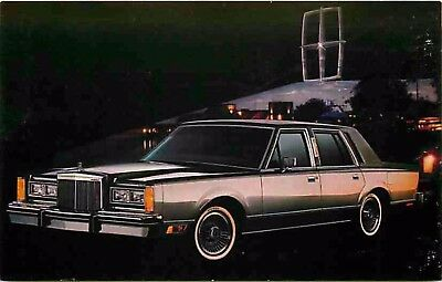 Advertising Postcard 1983 Lincoln Town Car