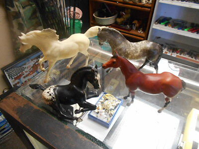 Breyer Horses Vintage lot of 4 INCluding variations OF ALL ARE BREYER HORES