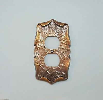 Vintage Amerock Carriage House Brass Outlet Cover Plate