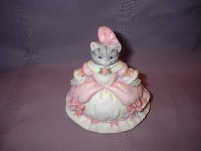 Schmid Kitty Cucumber Cinderella Princess Pink Ball Gown Figurine ~ 1990 ~ Vgc