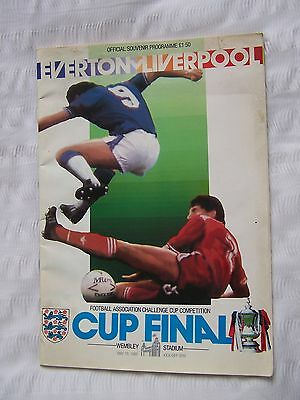 Football, Programme, Everton, Liverpool, Fa Cup Final, Wembley, 1986