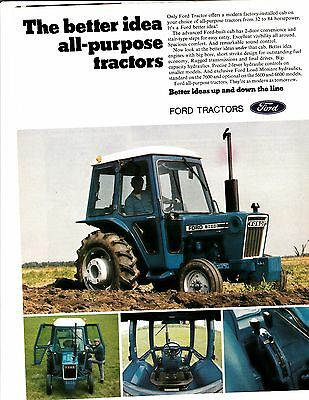 Original 1977 Ford Tractor Magazine Ad
